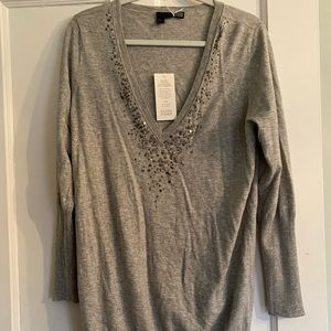 Eileen Fisher sequined sweater.